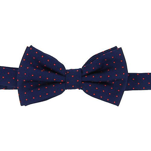 David Van Hagen Pin Dot Bow Tie - Marine / Rouge