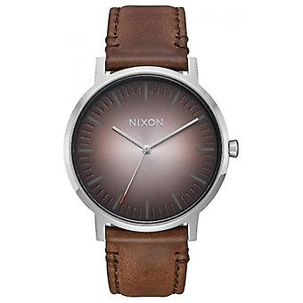 Nixon The Porter Leather Watch - Brown/Taupe Ombre
