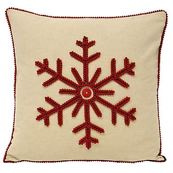 Riva Home Nicholas Snowflake kussen Cover