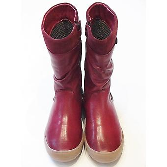 Froddo Red Waterproof Long Boot With Flower