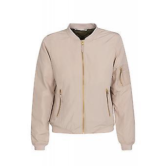 Noisy may space universe L / S jacket ladies bomber jacket beige