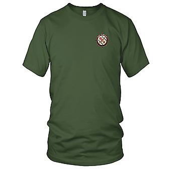 US Navy DD-745 USS Brush Embroidered Patch - Mens T Shirt