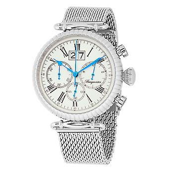 Burgmeister BMP02-111 Paris, Gents watch, Analogue display, Chronograph with Citizen Movement - Water resistant, Stylish stainless steel bracelet, Classic men's watch