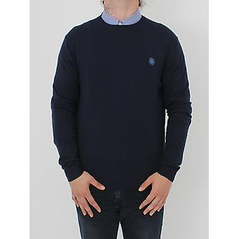 Pretty Green Hunchcliffe Crew Neck Knit - Navy