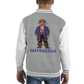 Guybrush Threepwood Pixel Character Monkey Island Kid's Varsity Jacket