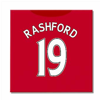 2016-2017 Man United Canvas Print (Rashford 19)