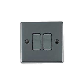 Hamilton Litestat Hartland Nickel noir 2g 250W M-Way Touch mât BK/BL