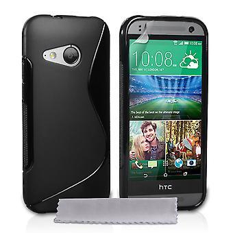 Caseflex HTC én Mini 2 silikone Gel S-Line sag - sort