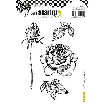 Carabelle Studio Cling Stamp A6-Offer A Rose SA60292