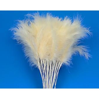 36 Ivory Feather Spray Picks for Floristry & Craft Projects