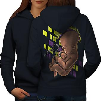 Baby Rocker Women NavyHoodie Back | Wellcoda