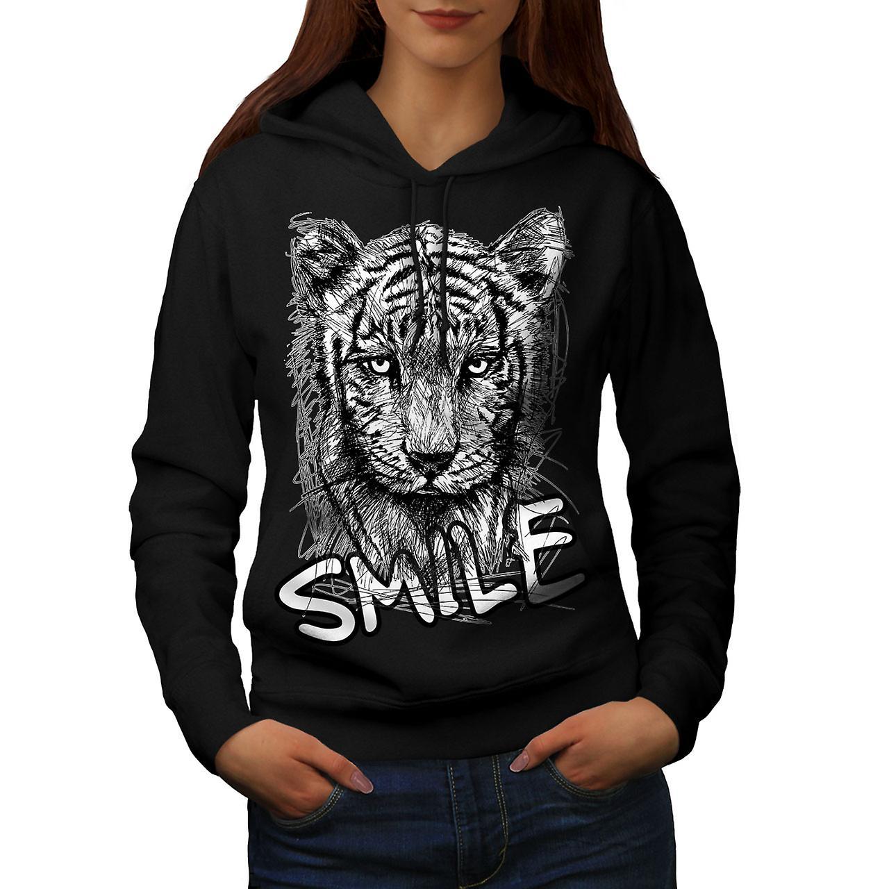 Smile noirHoodie Wild femmes Animal mignon