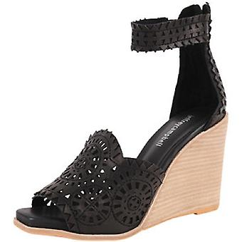 Jeffrey Campbell Womens Del-Sol Leather Open Toe Special Occasion Platform Sa...