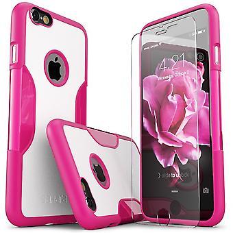 SaharaCase® iPhone 6/6s más desierto rosa caso, clásico paquete Kit de protección con vidrio templado de ZeroDamage®