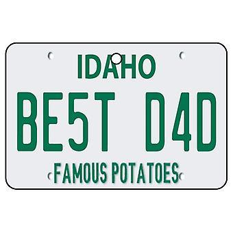 Idaho - Best Dad License Plate Car Air Freshener