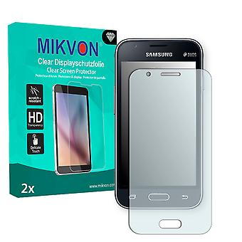 Samsung Galaxy J1 mini (SM-J105H/DS) Screen Protector - Mikvon Clear (Retail Package with accessories)