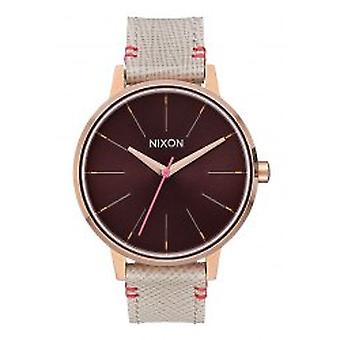 Nixon The Kensington Leather Rose Gold / Brown (A1081890)