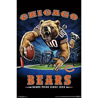 Chicago Bears - Endzone Poster drucken