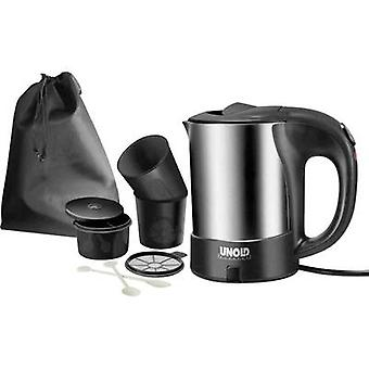 Kettle corded Unold 18575 Reise-Set Stainless steel, Black
