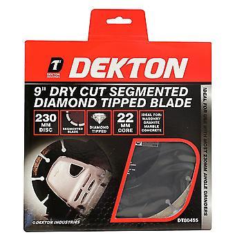 Dekton DT80455 9-inch Dry Cut Segmented Diamond Tipped Blade