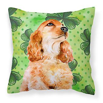 Cocker Spaniel St Patrick's Fabric Decorative Pillow