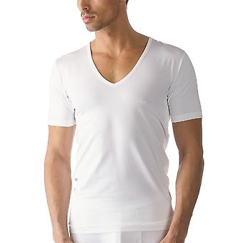Mey 46098 Men's White Cotton V-Neck Short Sleeve Top