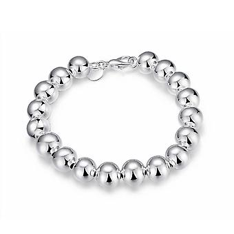 Womens Ladies Larger Balls Beads Silver Plated Bracelet Necklace