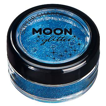 Fine Glitter Shakers by Moon Glitter – 100% Cosmetic Glitter for Face, Body, Nails, Hair and Lips - 5g - Blue