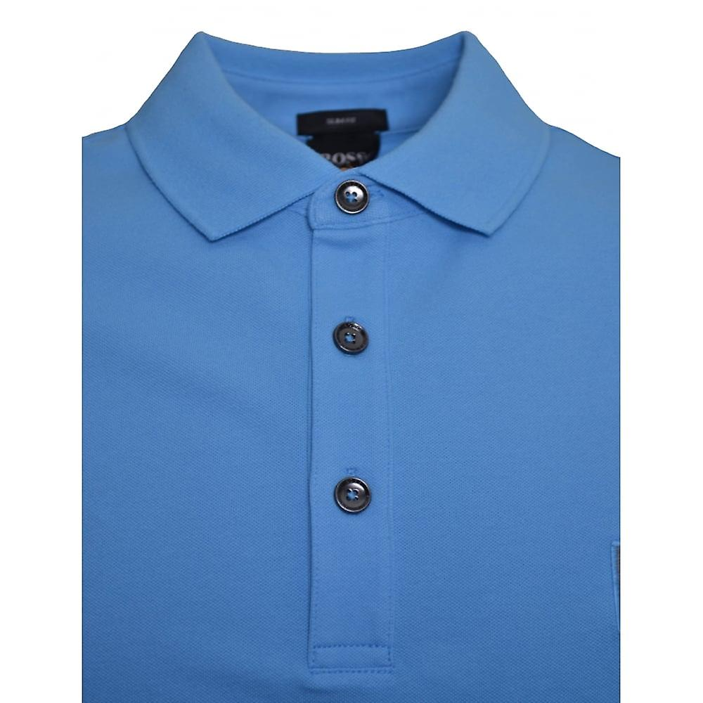 c44a11251 Hugo Boss Casual Men's Passenger Slim Fit Blue Polo Shirt | Fruugo