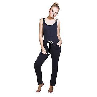 Ladies Jumpsuit - Navy All-in-one Overall Playsuit One size UK 8-12