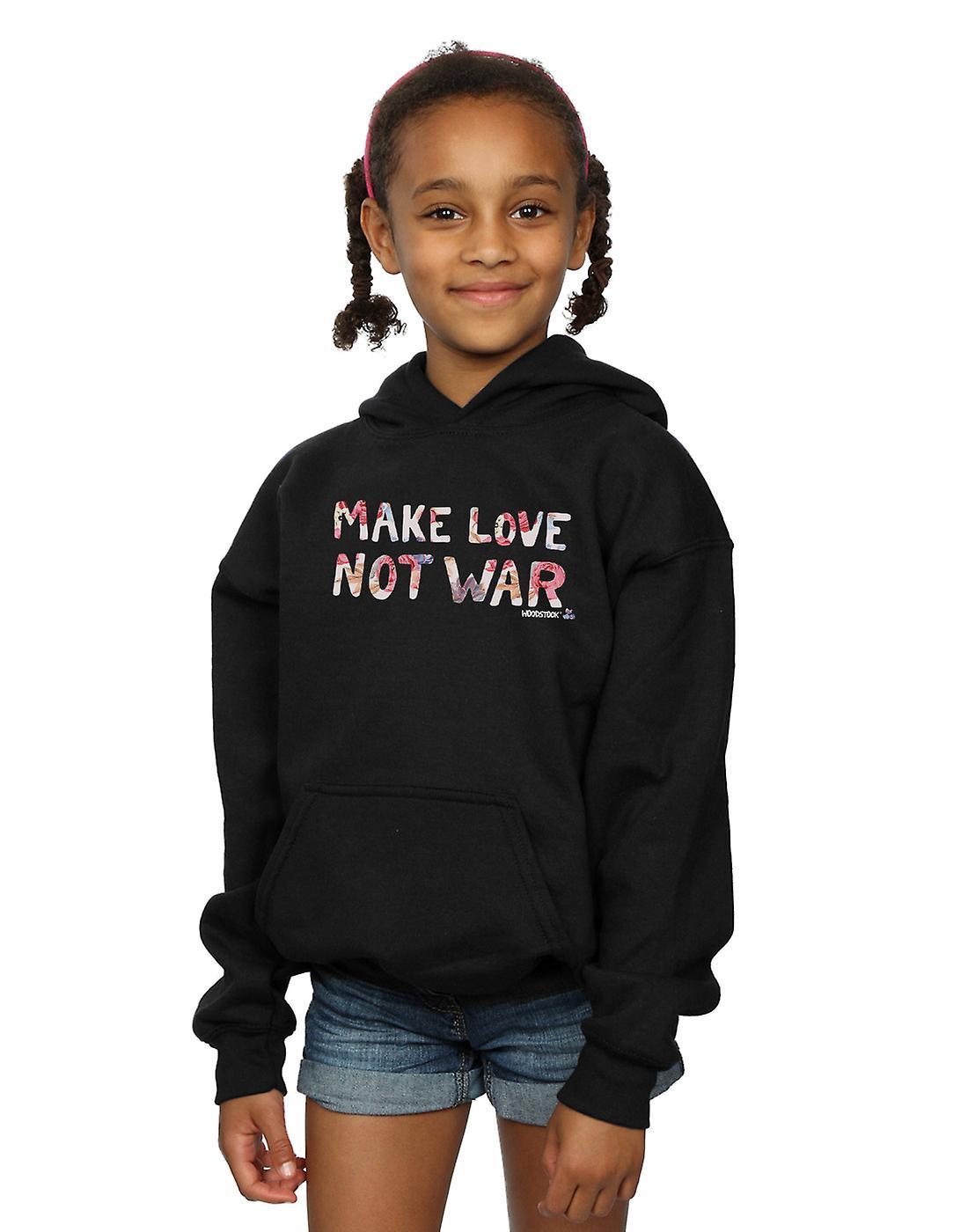 Woodstock filles faire le N&amour pas guerre Floral Hoodie