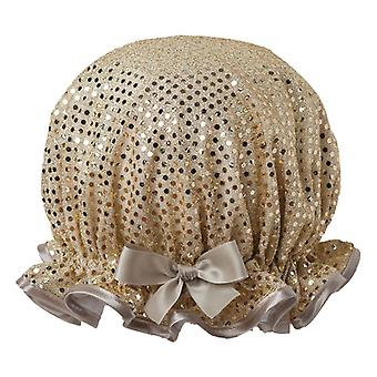 Sparkle Gold Shower Cap