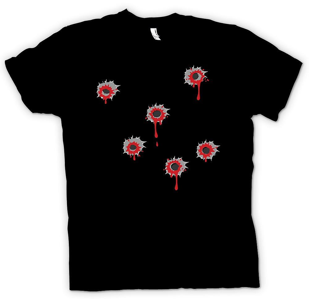 Mens T-shirt - Bullet Hole Effect - Funny