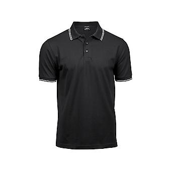 Tee Jays Mens Luxury Fashion Stripe Polo