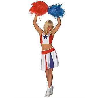 Cheerleader - hvit/rød/blå