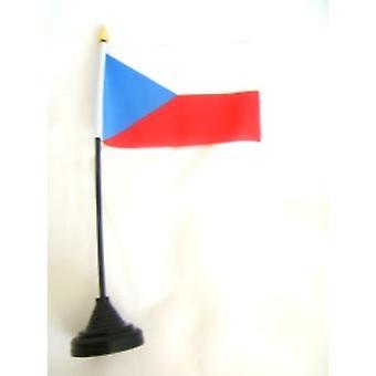 Tschechien-Tischfahne mit Stick & Base
