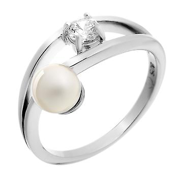 Orphelia Silver 925 Ring White Pearl  Zirconium   ZR-7121