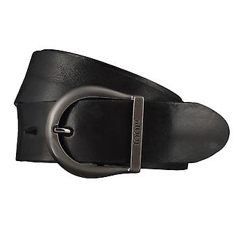 JOOP! Męskie pasy pasy skórzane jeansy pasek czarny 4400