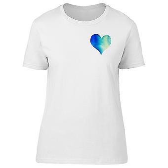 Upperide Blue Heart Tee Women's -Image by Shutterstock