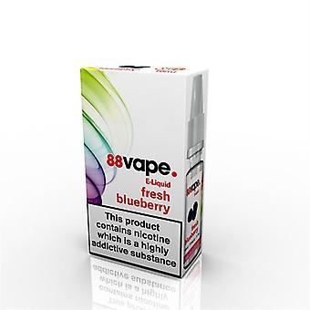 88 Vape E-Liquid Nicotine 11mg Fresh Blueberry 10ML