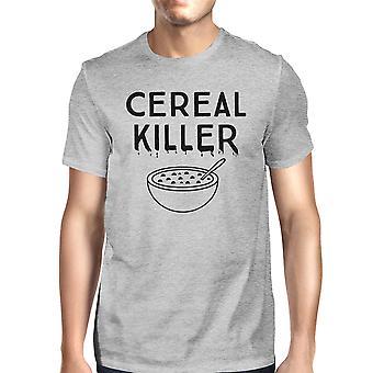 الحبوب تي شيرت القاتل الظلام رجالي قميص رمادي مضحك هالوين الرسومات