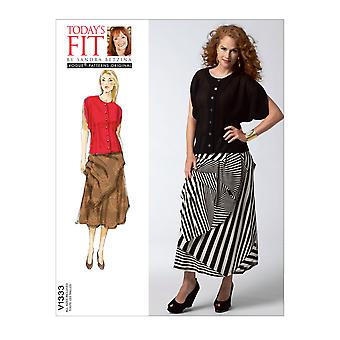 Vogue Misses' Blouse And Skirt-All Sizes in One Envelope -*SEWING PATTERN*