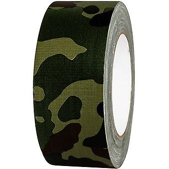 Cloth tape 80B50L25CC Camouflage (L x W) 25 m x 50 mm TOOLCRAFT