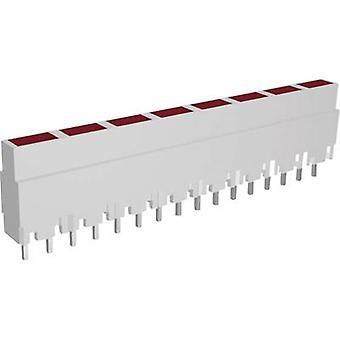 LED linear array 8x Red (L x W x H) 40.8 x 3.7 x 9 mm Signal Construct ZALW 080