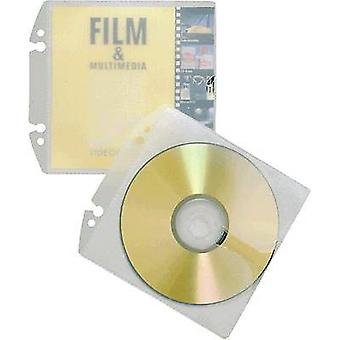 Durable CD/DVD punched pocket 1 CD/DVD/Blu-Ray PP