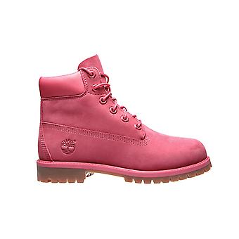 Timberland leather boots 6 premium WP junior pink