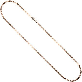 Anchor chain 925 necklace pink gold silver gold plated 45 cm necklace chain carabiner