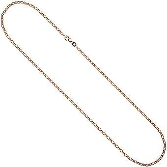 Kette Ankerkette 925 Silber rotgold vergoldet 45 cm Halskette Kette Karabiner