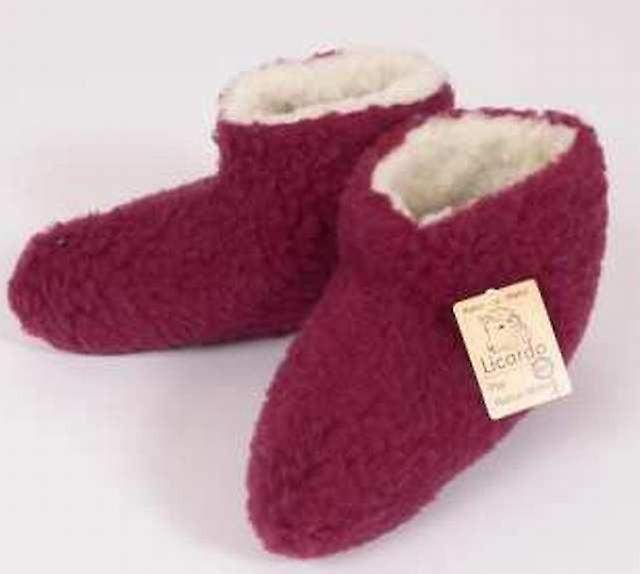 Bettscarpe Wolle bordeaux 36 37   Diversi stili e stili    Sig/Sig Ra Scarpa