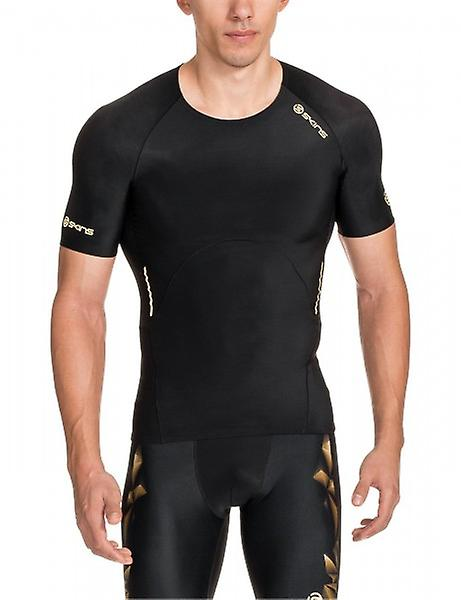 SKINS A400 Men's Top Short Sleeve Gold B32156005